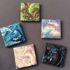 Working on a small scale these days #wip Pouring on mini tiles. They will become fridge magnets .  .  .  .  .  .  .  #myartwork #originalart #artforsale #acrylicpour #pouringart #artforthehome #instaart #artoftheday #adelaideartist #australianartist #fluidartist #fluidartgallery #fluidartwork #homedecor #abstractart #abstract #acrylicpour #tile #colourfest #coloursmakemehappy #arthealsthesoul