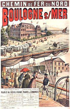 1890 Chemin de fer du Nord Boulogne sur Mer