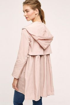 I absolutely love everything about this coat, especially the pale pink color