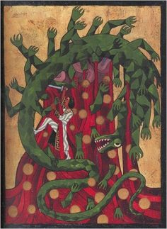 Illustration from The Red Book by C. Jung, Page by Carl Jung on Curiator, the world's biggest collaborative art collection. Carl Jung, Psychedelic Art, Illustrations, Book Illustration, Gustav Jung, Digital Museum, Red Books, Drug Free, Book Images