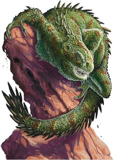 Xhumpedzkin - A Gila Monster like myth creature that causes severe and deadly headaches and which bites in shadows to poison victims. It is from Mayan Mythology.