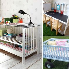 9 Cool Ways to Repurpose an Old Crib