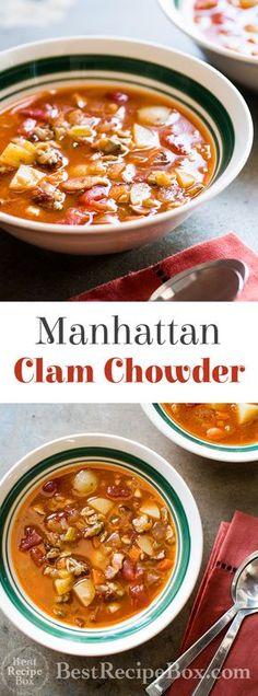 30 minute Manhattan Clam Chowder Recipe on @bestrecipebox