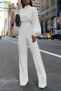 Product Fashion Bishop Sleeve Pure Colour Half Collar Jumpsuits Brand Name Swankmyway SKU Gender Women Style Fashion/Elegant/Modern Type Jumpsuits Material Polyester Fiber Decoration Pure Colour PleaseNote: All dimensions … Casual Jumpsuit, Elegant Jumpsuit, White Jumpsuit, Backless Jumpsuit, Jumpsuit With Sleeves, White Long Sleeve Jumpsuit, Black Jumpsuit Outfit, Wedding Jumpsuit, Long Sleeve Jumpsuits