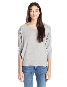Splendid Women's Very Light Jersey Dolman Top In Heather Grey >>> Check out this great image  : Fashion