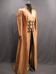 09004706 Robe Womens Fantasy yellow orange paisley brocade B35 W28.JPG