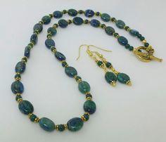 Azurite Malachite Necklace Azurite Malachite by GemstonesOnMyMind, $40.00