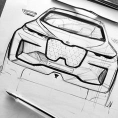 Bmw Design, Car Design Sketch, Design Art, How To Make Drawing, Weird Cars, Sketch Markers, Hand Sketch, Car Drawings, Technical Drawing