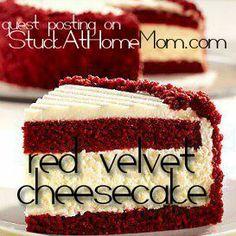 Delectable Red Velvet Cheesecake Recipe #cheesecake #recipe - StuckAtHomeMom.com