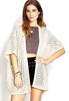 Cozy Open-Knit Cardigan | FOREVER21 - 2000106630