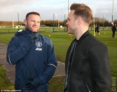 The pop singer spoke to Wayne Rooney ahead of Saturday's match against Arsenal