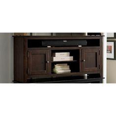 Progressive Furniture Rio Bravo Entertainment Stand, Dark Pine