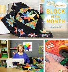 Join Kimberly Einmo's free Block of the Month class and sew a stunning, star-filled quilt! Enjoy step-by-step video guidance in this exclusive online experience you can refer back to anytime.
