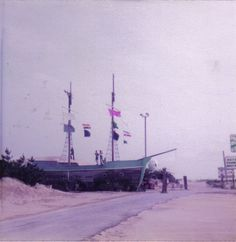The old Ghost Ship Attraction by Jockey's Ridge in Nag's Head-Gone but not forgotten!/ OBX Connection Message Board