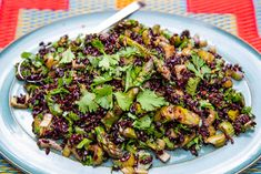 Black Rice BBQ Salad from Jasmine Hemsley Bbq Salads, Clean Lunches, Cranberry Chutney, Clean Eating, Healthy Eating, Black Rice, Quinoa Salad Recipes, Grilled Veggies, Jasmine Hemsley
