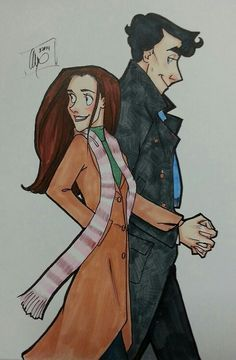 Dont ship it but love the way the artist Draws sherlock