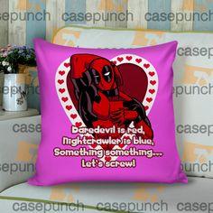 Sr2-spiderman Hearts Deadpool In Valentine Cushion Pillow Case