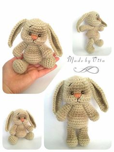 Mesmerizing Crochet an Amigurumi Rabbit Ideas. Lovely Crochet an Amigurumi Rabbit Ideas. Easter Crochet, Crochet For Kids, Crochet Crafts, Crochet Dolls, Crochet Projects, Amigurumi Patterns, Amigurumi Doll, Crochet Patterns, Crochet Rabbit