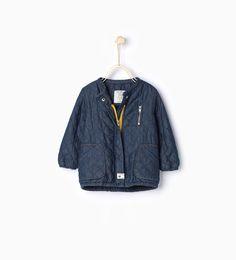 denim fleece jacket [ZARA]