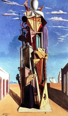 Giorgio de Chirico, The Great Automaton, 1925  #architecture #drawing Pinned by www.modlar.com