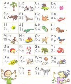 Alfabeto ilustrado para educación infantil
