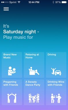 At the gym? Songza plays you the right music at the right time. Mobile App Design, Mobile Ui, Web Ui Design, Wine Drinks, Ios App, Stargazing, User Interface, Itunes, Connection