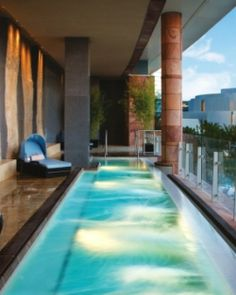 ARIA's decadent spa has 62 treatment rooms, an outdoor balcony and pool and a Shio salt room. #Jetsetter