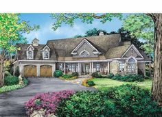 Craftsman House Plan with 2856 Square Feet and 4 Bedrooms from Dream Home Source | House Plan Code DHSW75321