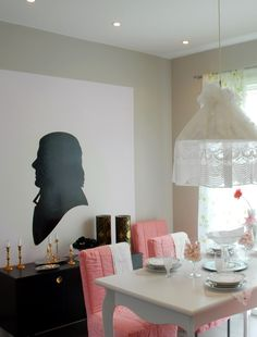 Make you own art and #paint a mural on your #dining room wall