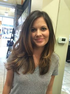 Balayage with long layers