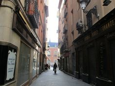 Palacio de Santa Cruz desde la Calle Zaragoza. Madrid