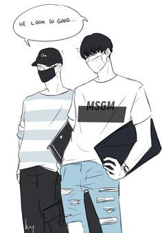 #meanie #mingyu #wonwoo #민규 #원우 #seventeen #세븐틴 #kpop #fanart Seventeen Memes, Mingyu Seventeen, Mingyu Wonwoo, Meanie, Dope Art, Kpop Groups, K Idols, Art Blog, Art Quotes