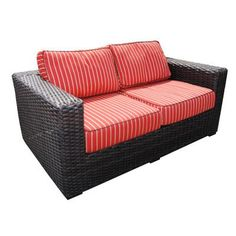 Teva Furniture Santa Monica Loveseat with Cushions Fabric: Air Blue