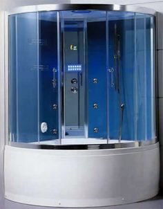 The ultimate, fully programmable shower system designed for two. With individual hydrotherapy jets and cascading waterfalls, programmable steam, and an optional CD/stereo system.