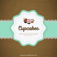 Cupcake doily rendas Vetor grátis