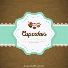 Cupcake doily lace Free Vector