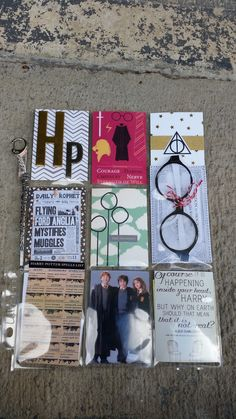 Harry Potter Themed Pocket Letter. It has a pair of glasses and ticket, Hermione's wand, The daily prophet and a spells list. #pocketletterpals