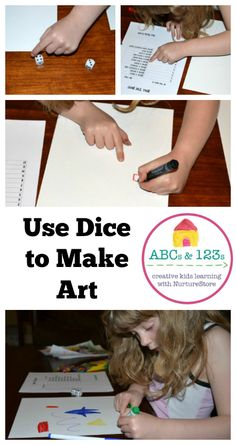 This art dice math game is a great way to build mental math skills with children who love to draw.