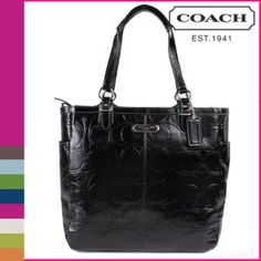 Coach Signature GAL EMB PAT NS TOTE F19818 BL « Holiday Adds