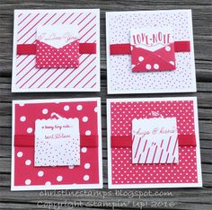 Sealed with Love Stampin' Up! Mini love notes