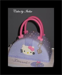 Hello Kitty Purse Cake