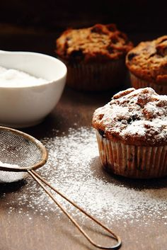 Blueberry muffin.