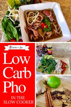 Recipe for low carb beef pho in a slow cooker (crockpot) - with modifications to low carb, slow carb or keto Pressure Cooker Pho, Slow Cooker, Keto Recipes, Dinner Recipes, Pho Recipe, Winter Dishes, Spice Blends, Keto Dinner, Kitchens