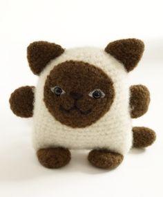 siamese cat crochet  KITTEEEEEEEEEEEEEN!!!!  (toooots makin' this for g-ma!)