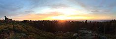 Hoher Stein (Vysoký kámen) #Sonnenuntergang  Panoramablick auf #Erlbach
