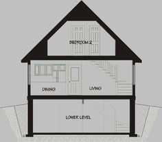 The Beckwith 1 1/2 storey small country cottage house floor plan by Home Concepts