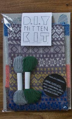 brilliant idea - diy mitten kit