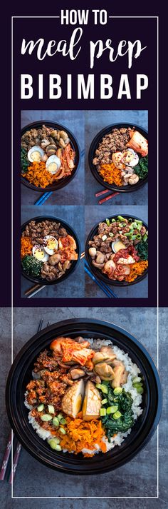 Check out my meal prep roadmap for an entire week of the healthy Korean classic: Spicy Beef Bibimbap! Made with delicious grass-fed beef, plenty of veggies, and hearty rice. via @freshplanetflvr