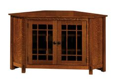 Amish McCoy Mission Corner TV Cabinet The McCoy puts storage, durability and natural beauty at the top if the list. Here's wood furniture you can count on to look great and outperform the rest. #Amishfurniture