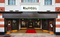 Distinctive Art Deco exterior of The Daffodil, #Cheltenham, #Gloucestershire